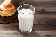 Glass of milk home Royalty Free Stock Image