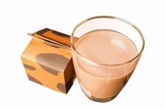 Glass of milk. Isolate white background Stock Photos