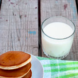 Glass of milk and a jug of milk Stock Photography