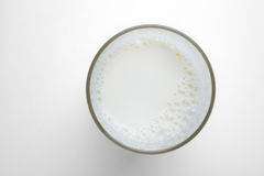 Glass milk. On white background Royalty Free Stock Images