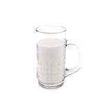 A glass of milk on white Stock Images