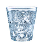 Glass of mineral carbonated water with ice. With clipping path Royalty Free Stock Photos
