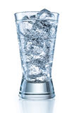 Glass of mineral carbonated water with ice. With clipping path Stock Photo