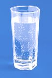 Glass with mineral water Stock Photo
