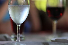 Glass of mineral water royalty free stock images
