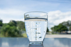 A glass of mineral water Stock Photo