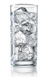 Glass of mineral water with ice. With clipping path Stock Photography