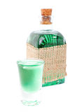 Glass of mint drink Stock Photos