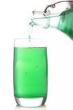 Glass of mint syrup Royalty Free Stock Photography