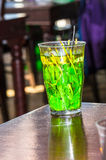 Glass with mint tea Royalty Free Stock Photo