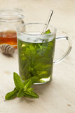 Glass with mint tea Stock Photography