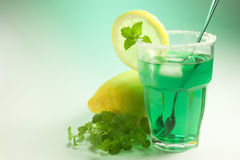 Glass of mint Stock Image
