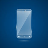 Glass mobile phone Royalty Free Stock Photo