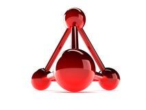 Glass model of molecular lattice Stock Image