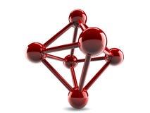 Glass model of molecular lattice Royalty Free Stock Image
