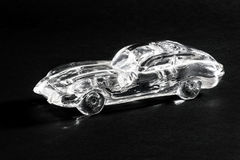 Glass model of retro car Royalty Free Stock Images