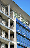 Glass modern building. Buisines and residental building,closeup look Royalty Free Stock Photos