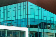 Glass modern building in Gdansk, Poland royalty free stock image
