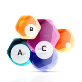 Glass modern geometrical hexagon abstract background Stock Photo