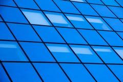 glass modern silhouettesskyskrapa Arkivbild
