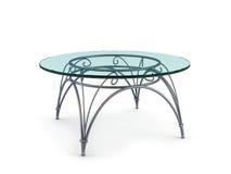 glass modern tabell för kaffe Royaltyfria Bilder