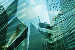 Glass of modern tower Stock Images