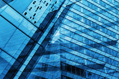 Glass of modern tower for business background Stock Image