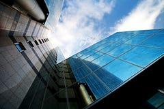 glass moderna skyskrapor Arkivbilder