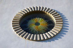 glass modernt nedfläckadt fönster Royaltyfria Bilder