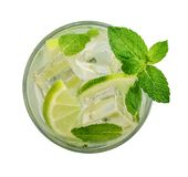 Glass of Mojito cocktail Royalty Free Stock Photography