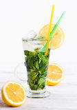 A glass of mojito Stock Images