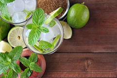 Glass of mojito cocktail Stock Image