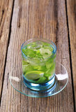 Glass of Mojito drink Royalty Free Stock Photo