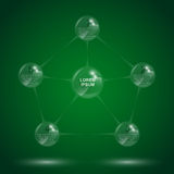 Glass molecule infographic Stock Images