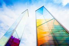 Glass monument in Liechtenstein Stock Photo