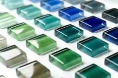 Glass mosaic. Close-up glass mosaic blend color chard Stock Photos