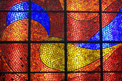 Glass mosaic. A colorful glass mosaic shot in a museum in moscow,russia Royalty Free Stock Image