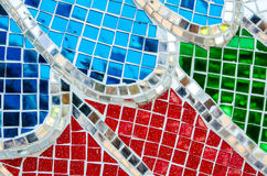 Glass mosaic abstract texture background Stock Photos