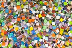 Glass mosaic chip. Colorful small glass mosaic chip Royalty Free Stock Photo