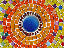Glass mosaic. Colourful of glass mosaic on the wall Royalty Free Stock Photography