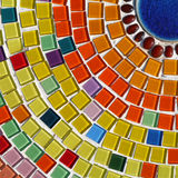 Glass mosaic. Colourful glass mosaic on the wall Stock Photo