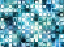 Glass mosaic cubes Stock Photography