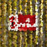 Glass mosaic kaleidoscopic seamless generated hires texture. Or background Stock Photo