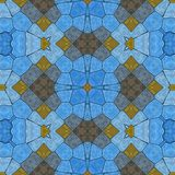 Glass mosaic kaleidoscopic seamless generated hires texture Stock Images