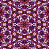 Glass mosaic kaleidoscopic seamless generated hires texture Royalty Free Stock Photo