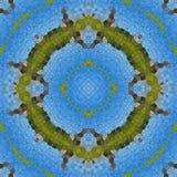 Glass mosaic kaleidoscopic seamless generated hires texture Stock Photos