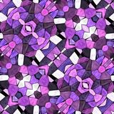 Glass mosaic kaleidoscopic seamless generated hires texture Royalty Free Stock Photography