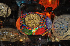 Glass mosaic lanterns Stock Images