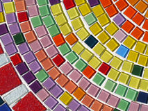 Glass mosaic. Multi colour glass mosaic on the wall Royalty Free Stock Image