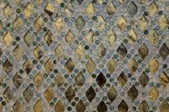 Glass mosaic pattern Royalty Free Stock Images